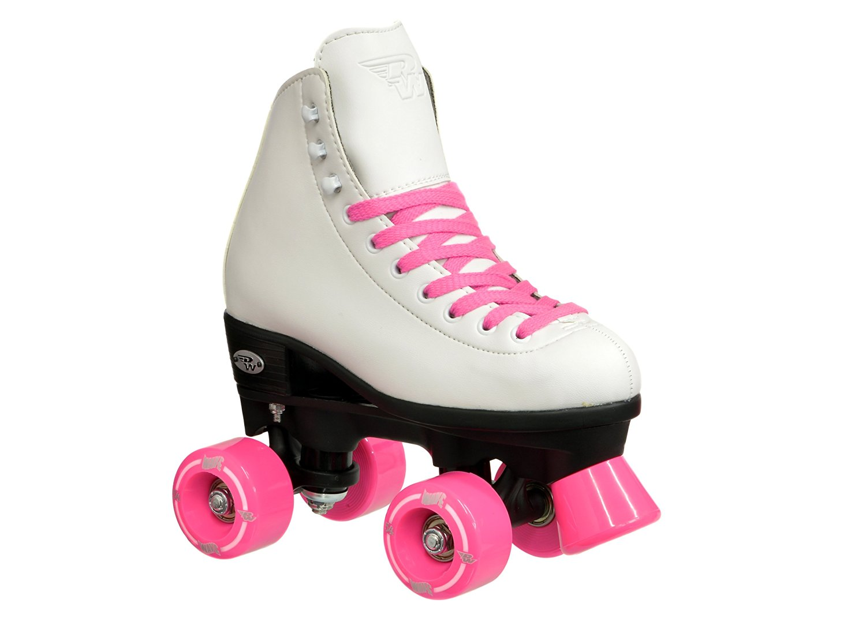Riedell Wave Girls Skates - Riedell Wave Kids Pink Quad Roller Skates