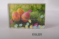"Easter style 4""*6"" plastic acrylic liquid photo frame aqua picture frames"