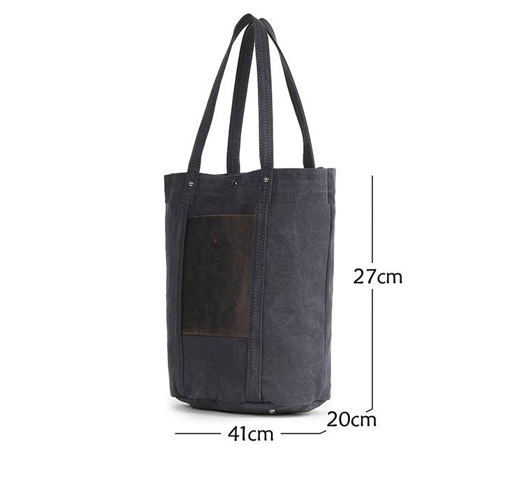 European brand fancy elegant vintage design cotton canvas women ladies handbag hand bag with leather trim