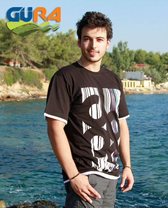 %100 Cotton Men Tshirt With Screen Printing