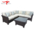 Sectional Garden Outdoor Furniture Wicker Rattan Corner Sofa Set with Coffee Table