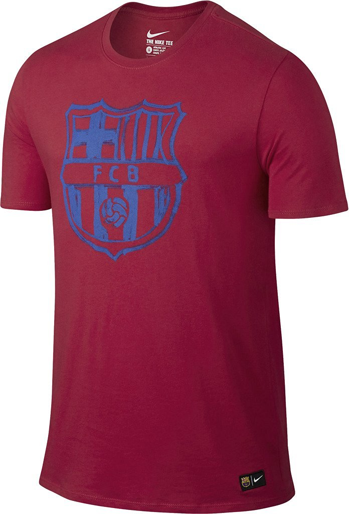 a9282c42c Get Quotations · Nike Mens FC Barcelona Crest T-Shirt  PRIME RED