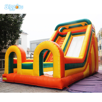 Fun and Cheap Inflatable Bounce Castle with Water Slide For Sale
