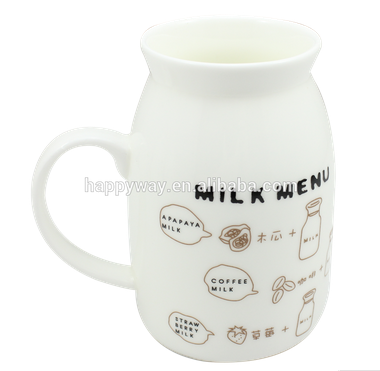 Cute Mini Ceramic Milk Mug, MOQ 100 PCS 0303012 One Year Quality Warranty
