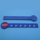 custom rectangle logo ruber ruler for school prize gifts