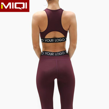 Fitness Apparel Clothing OEM Active Wear Yoga Pants and High Impact Sports Bra Wholesale Women Yoga Set