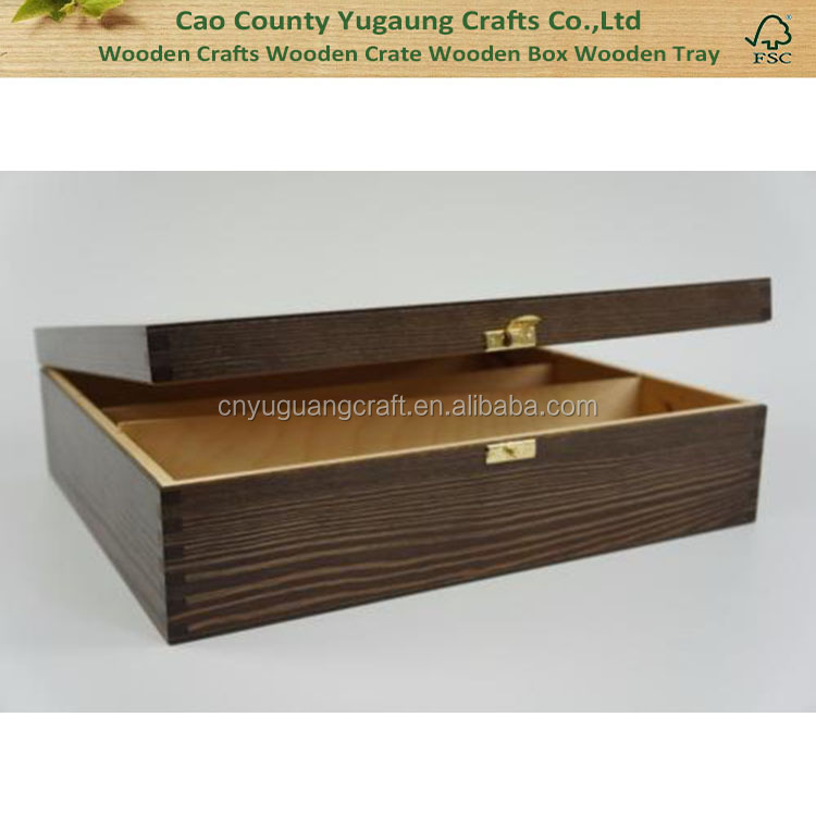 Wooden Wine Box Bottle Gift Decoupage Craft Chest 2 Spaces