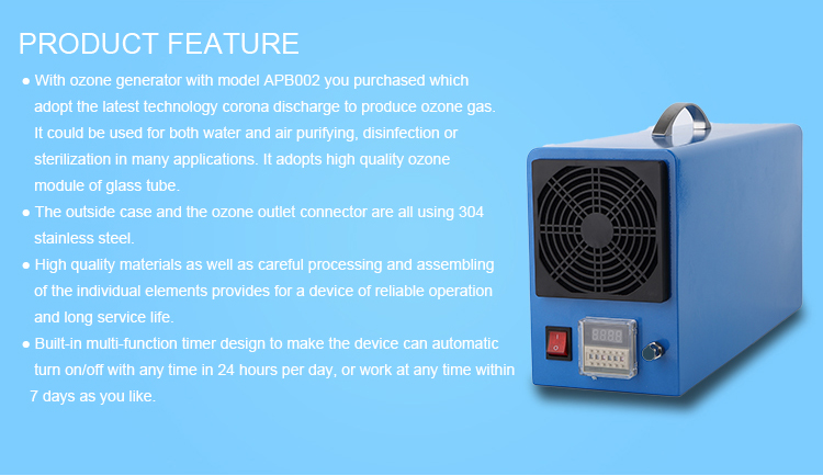 Air Water Purifier Disinfector Ozone Generator Function Machine