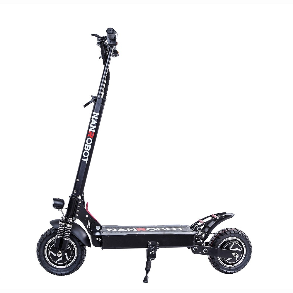 Nanrobot Newest item 10inch 52V lithium battery electric scooter 2000w with seat for adult electric scooter, Black