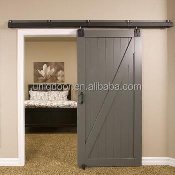 Gray Color Modern Z Brace Bedroom Mdf Sliding Barn Doors Buy