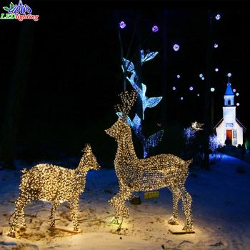 Christmas Wire Sculpture Lighted