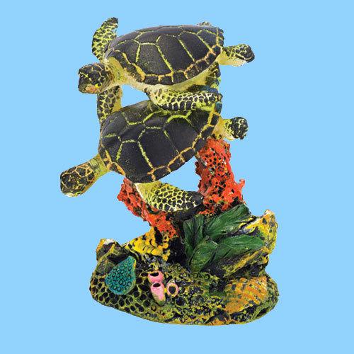 China Sea Turtles Fish Tank Resin Decoration