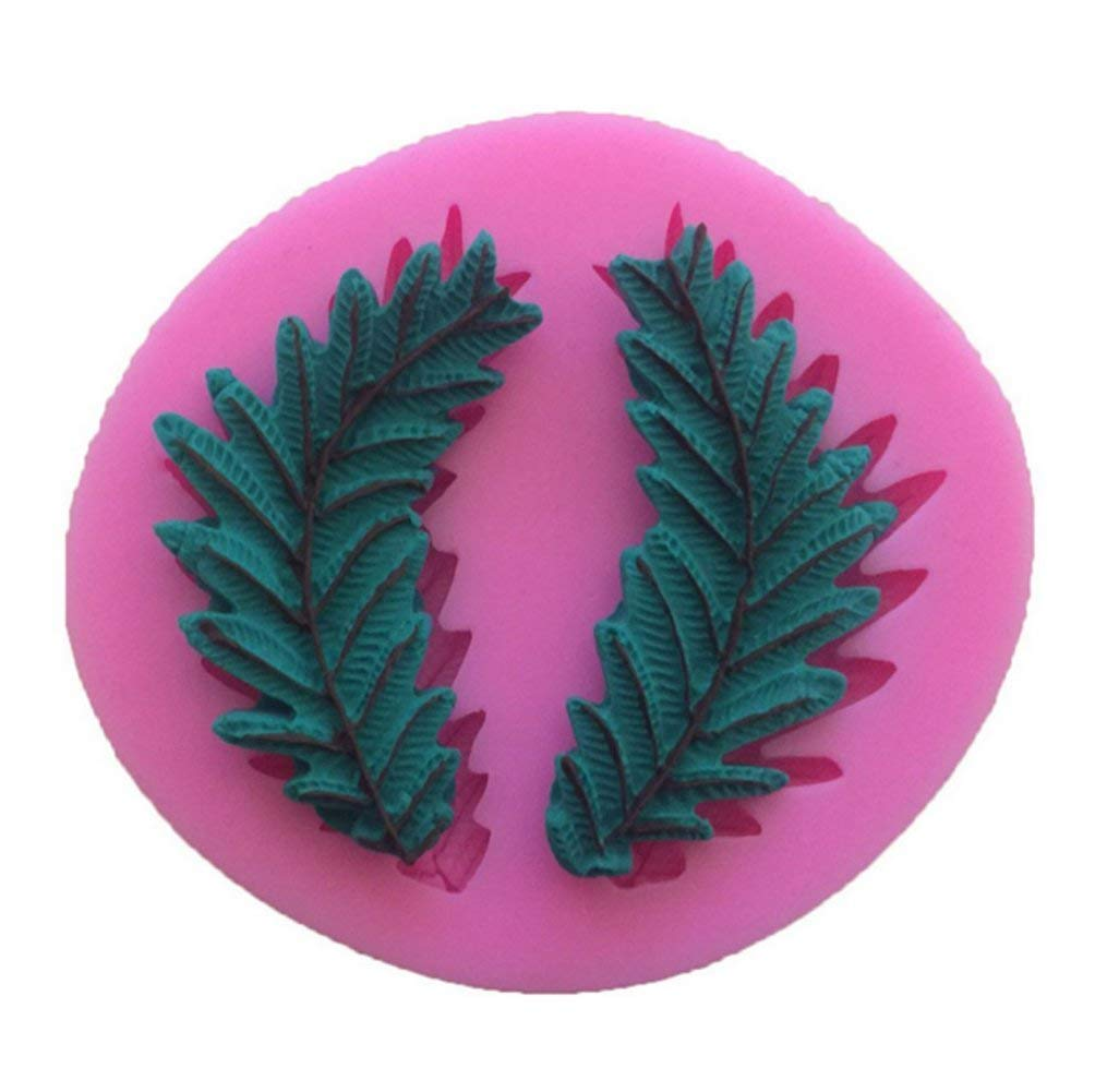 Neaer Decorative Pattern Leaves DIY Cake Mold Sugar Silicone Mold Liquid Silicone Mold For Kitchen