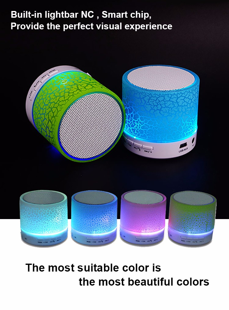 GuangDong subwoofer speakers with LED wholesale cheap wireless bluetooth loudspeakers mini portable speaker bluetooth