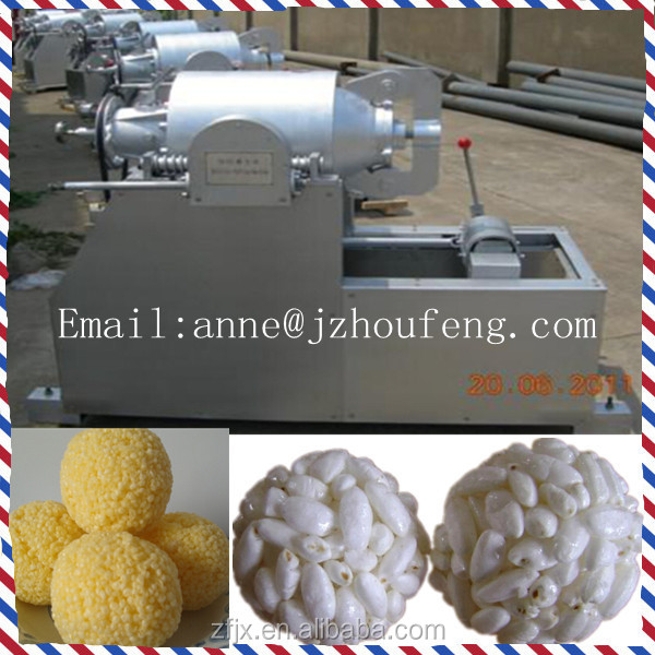 Iron casted explosion puffing grain machine for puffing food Skype:annezf1
