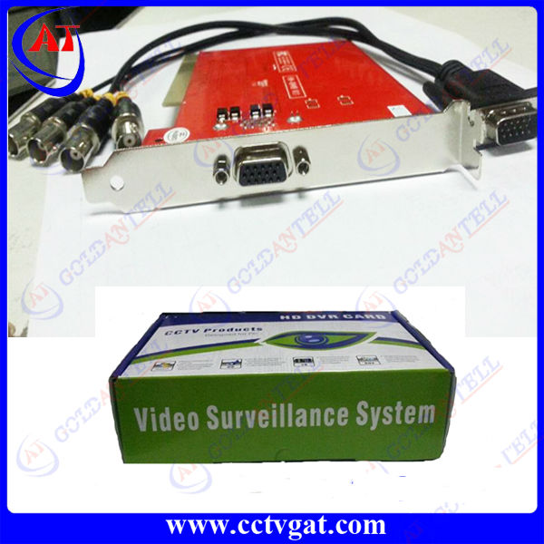 Chinese Famous Brand 4 CH DVR Card Full D1 Real-Time 100/120FPS 4 Ch Video PCI Retail Package