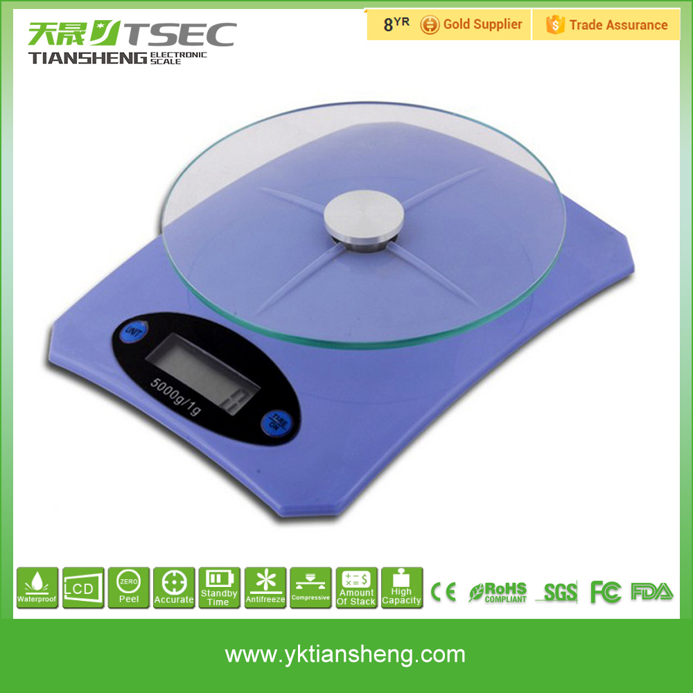Talking 5kg mini super slim multifunction electronic kitchen scale