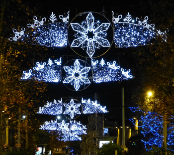 custom commercial outdoor led christmas decorations motifs cross street light