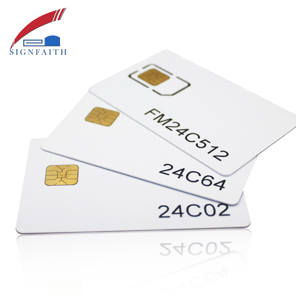 Blank Chip Landing Smart PVC SLE4428 IC Card with Magnetic Stripe