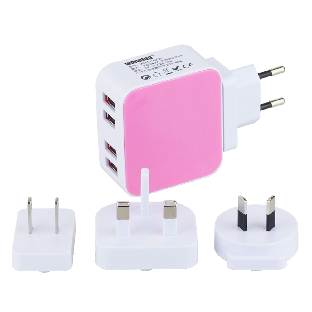 Safety durable Mobile Phone Use and Electric Type usb charger 4 port 5V 2.1A