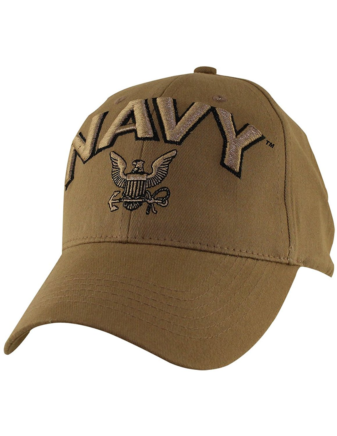 Coyote Military Baseball Caps 100% Cotton w/Embroidered Emblem US Navy