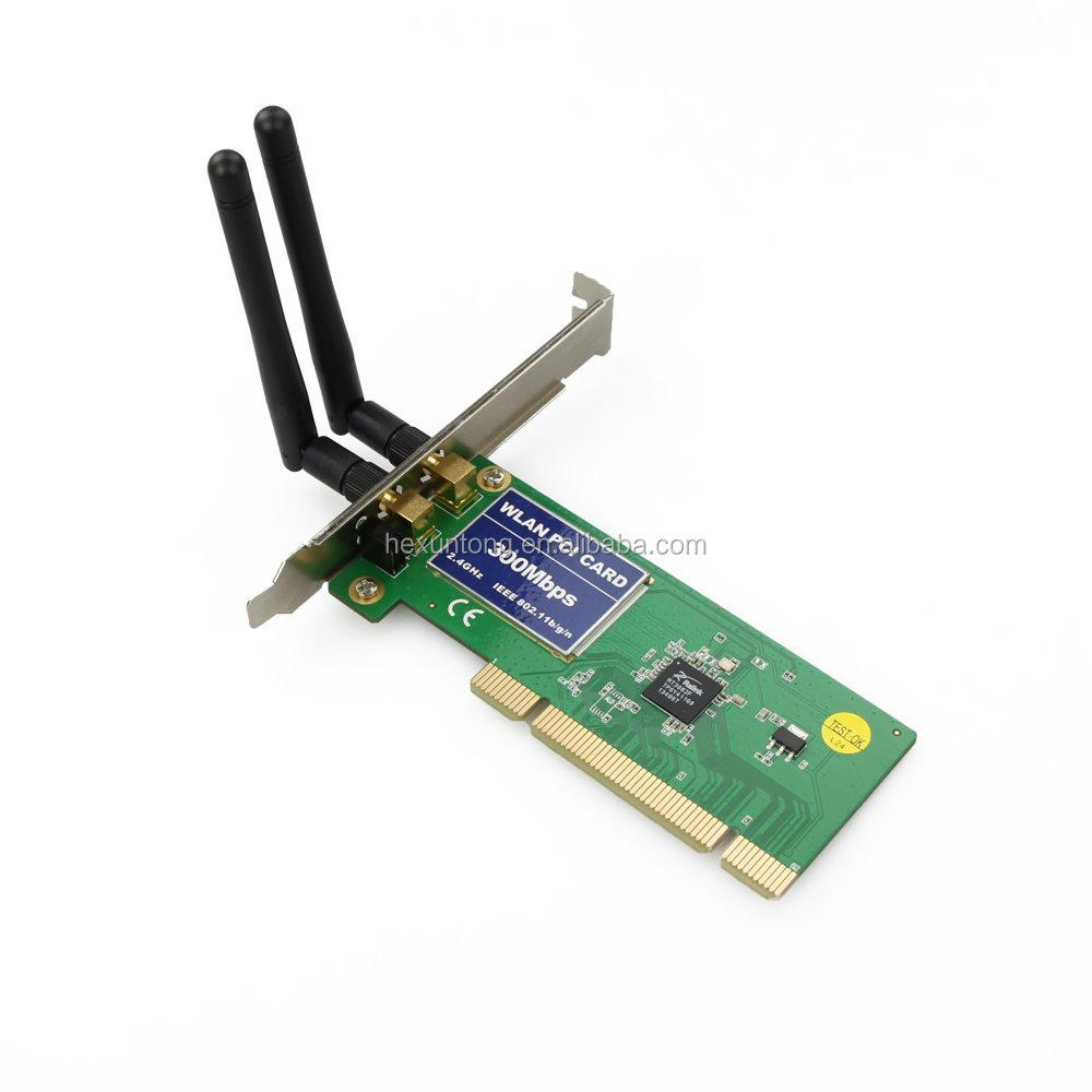 PCI 300Mbps 802.11b/g/n Wireless Adapter WiFi Card for Desktop PC Laptop