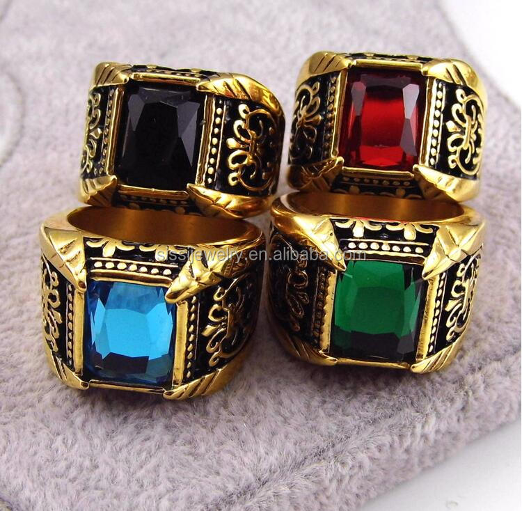 Mens Emerald Sapphire Onyx Garnet Gemstone Ring Designs Mens Gold Ring