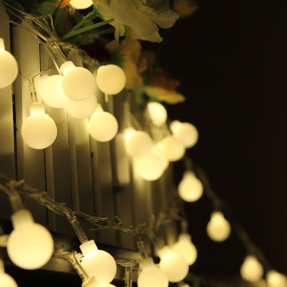 10M 100 LED Globe String Lights Warm White/White Ball Fairy Light For Party