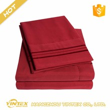 Luxury comfortable adult microfiber cheap plain bed sheets