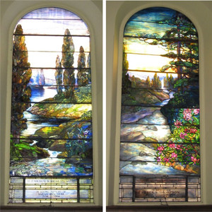 Chinese colored glass stained tiffany glass for church window