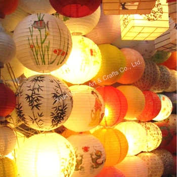 Led Light Paper Lantern String Lights Hanging Chinese Lanterns Floor Standing Lamp