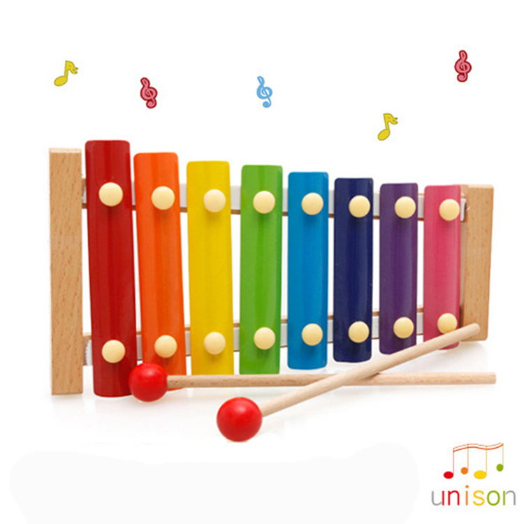 Nature wooden musical instrument for kids lovely music toy xylophone