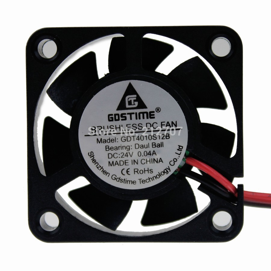 Cooling CPU Computer Fan Ball Bearing Small 40mm × 40mm × 10mm DC Brushless US