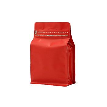 High quality friendly flat bottom gusset bag/8-side sealed aluminium foil coffee bag with zipper