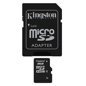 Professional Kingston MicroSDHC 8GB (8 Gigabyte) Card for Kodak EasyShare Z650 Camera Phone with custom formatting and Standard SD Adapter. (SDHC Class 4 Certified)