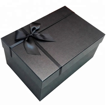Custom-made Black Rectangular Overcoat/Wedding Dress Packaging Box Birthday/Christmas Gift Box