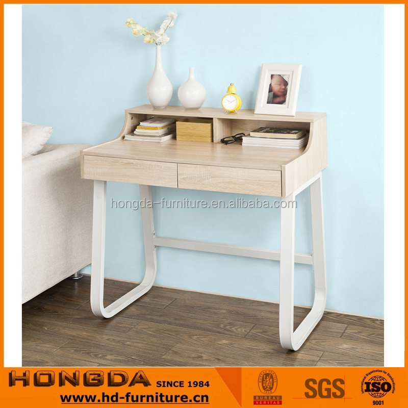 Fashionable Office Table Computer Desk with Shelves & Drawers