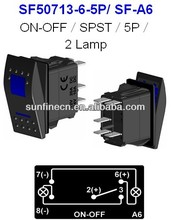 "NEW HOT cover! Carling Style 12V/ 24V LED Rocker Switch T85 15A Waterproof Cover ""L"" type new SPOT LIGHTS hotsale"