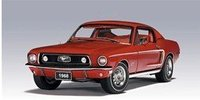 Model Car-Auto Art 1968 Ford Mustang GT 390 - Red