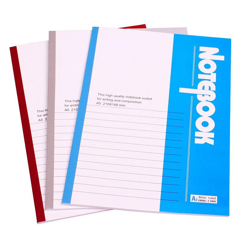 Özel baskı yumuşak kapak zımbalanmış A5 A4 kağıt defter çizgili bloknotlar okul öğrencileri için günlüğü veya ev ödevi alıştırma kitapları
