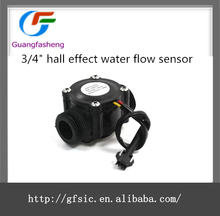 "3/4"" hall effect water flow sensor"