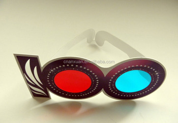 Red Cyan Red/Green disposable paper 3d viewer