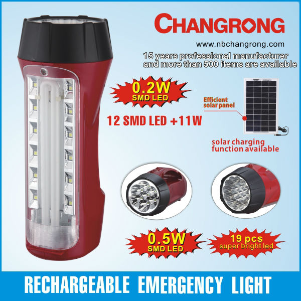Recargable portable emergencia led lámpara solar
