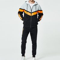 Hot Cheap Men'S Tracksuit Sport Suits Long Sleeve Hoodie and Pants Sets Breathable Fabric Two Pieces Sweat Suit for Man