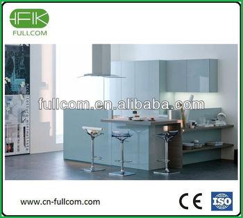 Ocean Blue High Gloss Kitchen Cabinet