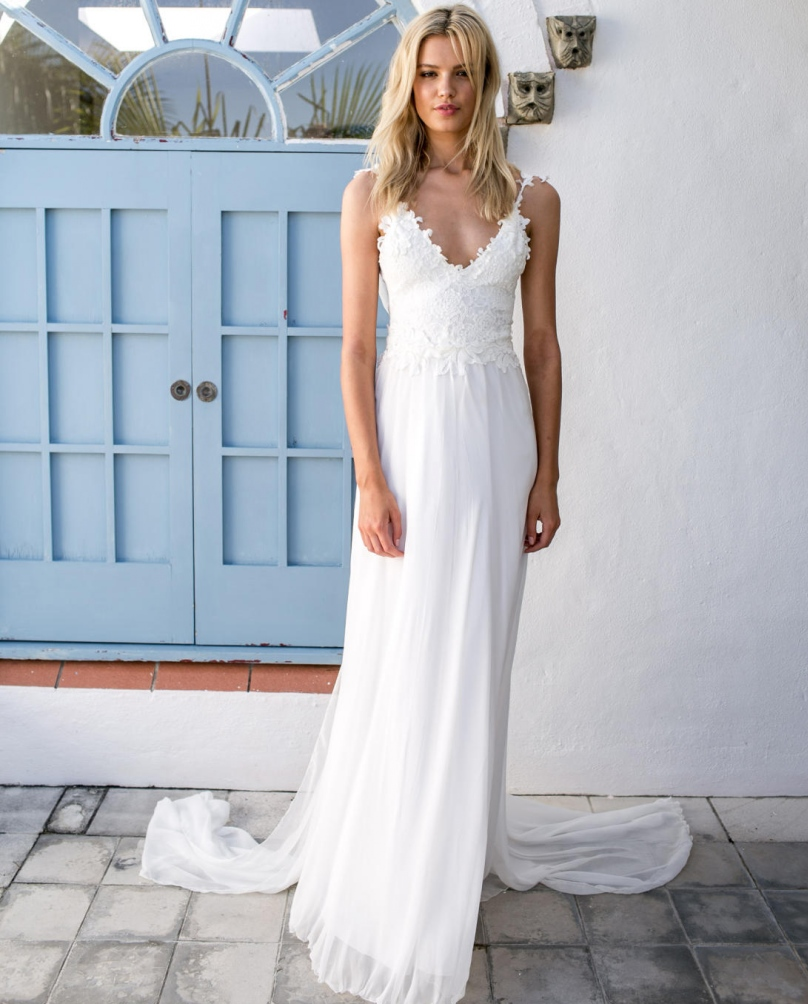 Dresses To Wear To A Summer Wedding: 2017 Summer Sexy Casual Beach Wedding Dresses Backless