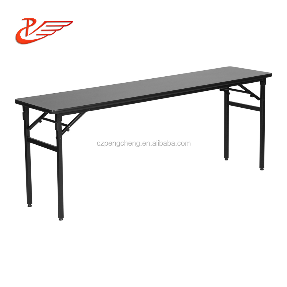 Hot selling fully assembled wooden steel cheap furniture fold away tables