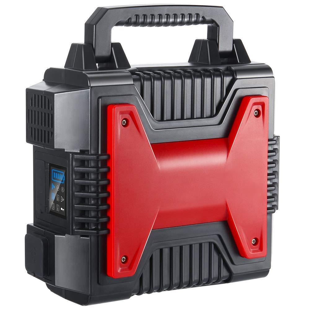 Bingogous Portable Power Generator, 54000mAh 200Wh Power Station 300W Pure Sine Wave Emergency Backup Battery Energy Inverter, 2 AC110V Outlets, 2 USB Ports, 1 DC12V Port, 1 Cigarette Lighter Port