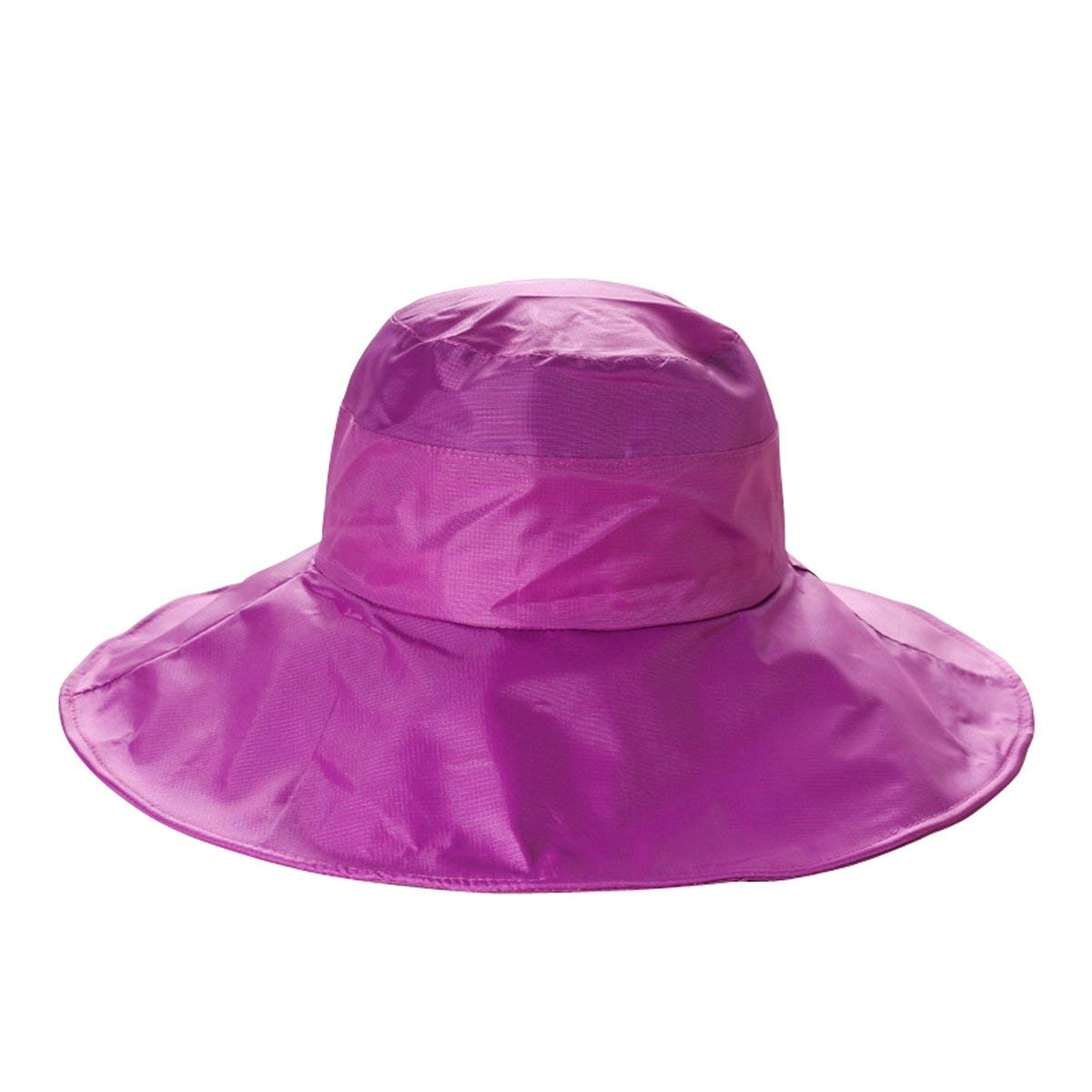 Get Quotations · Women s Rain Hats Waterproof Rain Hat Wide Brim Bucket Hat  Rain Cap Sun Hats (Magenta e8281b6fdd74