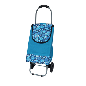 600d canvas blue small promotion bag with iron trolley